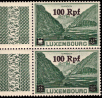 Luxembourg OC 32** MNH Vues Surchargée - 1940-1944 Ocupación Alemana