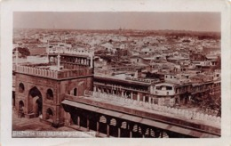 DELHI - BIRDS EYE VIEW OF THE CITY OF DELHI ~ AN OLD REAL PHOTO POSTCARD #98802 - India