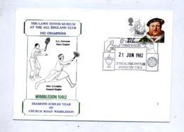 Lettre Cachet Wimbledon Musee Tennis - Affrancature Meccaniche Rosse (EMA)