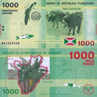 BURUNDI, 1000 FRANCS, 2015, P51, UNC, DESIGN BANANA TREE - Burundi