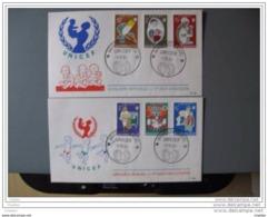 Belgique  1960 FDC  Rodan N° 1153 à 1158 UNICEF - FDC