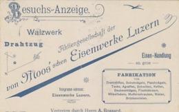 Luzern - Moos'sche Eisenwerke - 1912          (P-182-80627) - Publicidad
