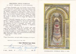 PIEGHEVOLE DELLA CONGREGAZIONE UNIVERSALE DELLA S. CASA DI LORETO (ANCONA) 1952 - Religion & Esotérisme