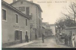 CPA Veauche - Route De Rivas - Circulée 1911 - Frankrijk
