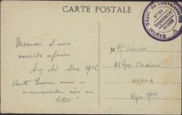 Guerre 14 Cachet Hôpital Dépôt De Convalescents N°41 Vaguemestre Avignon CPA Aix En Provence La Grande Fontaine FM - Poststempel (Briefe)