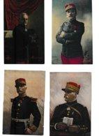 Guerre 14-18 Oficiers Er Souverains Des Armées Alliées 17 Cartes (Galliéni, Maunoury, Pau, Foch,arrail...) - Guerre 1914-18