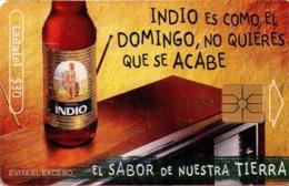 MEXICO. BEER - CERVEZA- BIER. CERVEZA INDIO. Indio Es Como El Domingo, No Quieres Que Se Acabe. MX-TEL-P-0878A. (104) - México