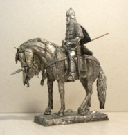 * Tin Soldier ! Horse  Russian  Warrior (scale 1:32 Size ) №2 - Tin Soldiers