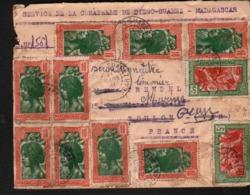 Madagascar, Enveloppe De Diego Suarez, Affranchie Avec Les Y&T N°9x165, 2x164, 11 Mars 1941 - Madagascar (1889-1960)