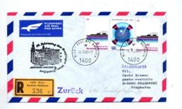 Lettre Recommandee Anniversaire Vol Austrian Airlines Wien Frankfurt - Airplanes