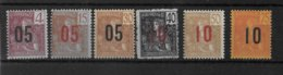 INDOCHINE - SERIE COMPLETE YVERT 59/64 * MLH  - COTE = 18 EUR. - Neufs