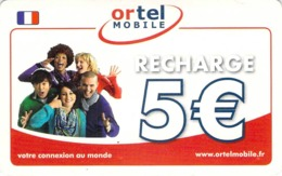 Carte Prépayée - ORTEL MOBILE - 5 € - France