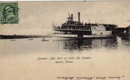 "76/ Steamer ""Ben Hur"" On Lake Mc Donald, Austin Texas, Stoomboot - Austin"