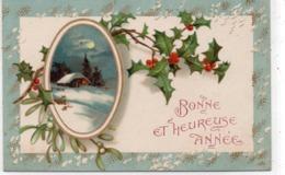 FLEURS 139 : Paysage Houx , Bonne Et Heureuse Année ; édit. Kopal N° 691 - Blumen