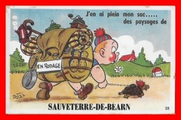 CPA (64) SAUVETERRE-de-BEARN.  Carte à Systèmes. J'en Ai Plein Mon Sac...des Paysages De Sauveterre, Tortue...K057 - Cartoline Con Meccanismi
