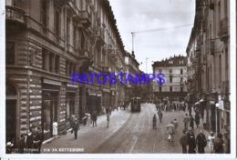122765 ITALY TORINO TURIN PIAMONTE STREET XX SEPTEMBER & TRAMWAY POSTAL POSTCARD - Italie