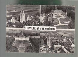 CP - 28 - En Avion Au Dessus De ... Thiville - Multi-vues - Francia