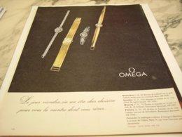 ANCIENNE PUBLICITE LE CHOIX  MONTRE OMEGA  1960 - Bijoux & Horlogerie