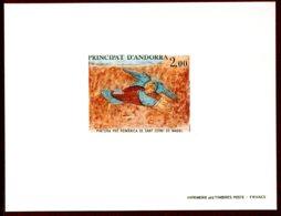 Andorra French 1980 #284, Deluxe Proof, Pre-Romanesque Fresco - Nuevos