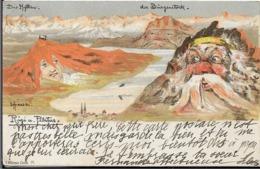 Carte Suréalisme Der BURGENSTOSCK.Editeur à ZURICH - Svizzera