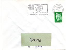 ALPES Mmes - Dépt N° 06 = ST PAUL 1969 = FLAMME SECAP ' PENSEZ à INDIQUER NUMERO DEPARTEMENT ' - Postleitzahl