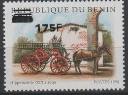 Bénin 2005 Mi. 1384 Hippomobile Pferd Cheval Horse Faune Fauna Pompiers Firefighter Feuerwehr Surchargé Overprint MNH** - Bénin – Dahomey (1960-...)