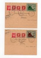 !!! PRIX FIXE : VIGNETTES DE LA CHAMBRE DE COMMERCE DE ST NAZAIRE SUR 2 LETTRES DE FROSSAY DU 9/5/1945 - Poststempel (Briefe)