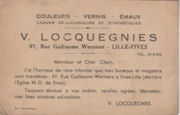 59 - LILLE - Fives - V. Locquegnies  97, Rue Guillaume Werniers - Lille