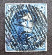 BELGIE  1849    Nr. 4   Vol Kader    Gestempeld     CW 70,00 - 1849-1850 Médaillons (3/5)