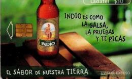 MEXICO. BEER - CERVEZA - BIER. CERVEZA INDIO. Indio Es Como La Salsa, La Pruebas Y Te Picas. MX-TEL-P-0875. (106) - México