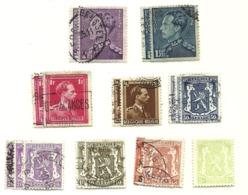 1936 - Belgio - 419x2 + 420x2 + 422x3 + 426x3 + 427x2 + 428x2 + 430x2 + 431x2 Leone Ed Effigie    C3775 - 1936-1957 Col Ouvert