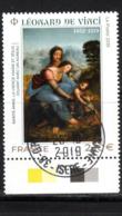 France  2019.Léonard De Vinci.Cachet Rond Gomme D'Origine. - Frankreich