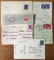 France N°322 à 327 La Série Seul Sur Lettre - Expostion Arts Et Techniques 1936 - (B1556) - 1921-1960: Periodo Moderno