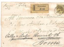 AKII304 / ÖSTERREICH -  Peczenizyn 1893, Einschreiben Nach Rom - Briefe U. Dokumente