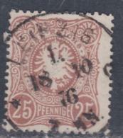 Allemagne N° 34 O  :25 P. Brun-rouge, Oblitération Moyenne Sinon TB - Allemagne