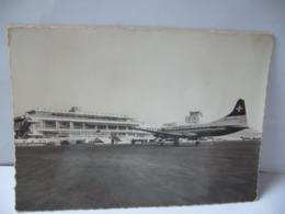 AEROPORT DE NICE COTE D'AZUR 06 ALPES MARITIMES L'AIRE DE STATIONNEMENT CPSM 1966 - Aeronáutica - Aeropuerto