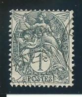 FRANCE: Obl., N° YT 107a (IB), TB - 1900-29 Blanc