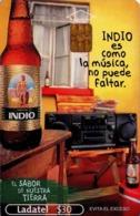 MEXICO. BEER - CERVEZA - BIER. CERVEZA INDIO. Indio Es Como La Música, No Puede Faltar. MX-TEL-P-1054A. (101) - México