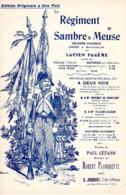 PARTITION MILITAIRE - REGIMENT DE SAMBRE ET MEUSE - PAR FUGERE ET DE CEZANO ET PLANQUETTE - GUERRE 1870 - EXC ETAT - Música & Instrumentos