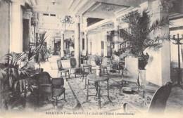 88 - MARTIGNY Les BAINS : Le Hall De L'HOTEL INTERNATIONAL - CPA Village ( 800 Habitants ) - Vosges - Altri Comuni