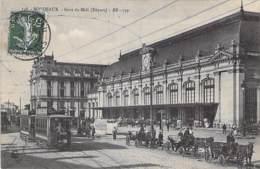 33 - BORDEAUX : Gare Du Midi ( Départ ) Bon Plan Avec TRAMWAY Et Attelages - Jolie CPA - Gironde - Bahnhöfe Ohne Züge