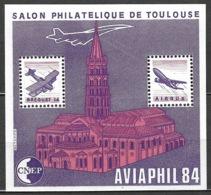 France - Bloc CNEP 1984 - N° 5 A ** - AVIAPHIL, Salon Philatélique De Toulouse - Toit Coupé - - CNEP