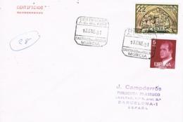 34377. Carta Certificada SANTIAGO De La RIBERA (Murcia) 1981. Academia General Del AIRE - 1931-Hoy: 2ª República - ... Juan Carlos I