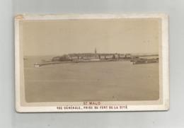 Bretagne 35 -photographie Cdv Saint  St Malo Vue Prise Du Fort De La Cité Aout 1881 Photo Ed Ordinaire Dinard - Fotos