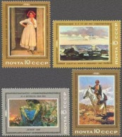 USSR Russia 1981 Russian Paintings Art Rubo Vrubel Ivanov People Artist Horse Cultures Stamps MNH Michel 5067-5070 - Art