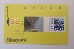 Télécarte 5 Unités Pages-Jaunes Gn191 - Luxe - Variété Numéro De Série Imprimé Au Recto - France