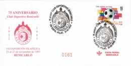 34378. Carta BENICARLÓ (Castellon) 1997, 75 Aniv. Club Deportivo Benicarló, FUTBOL - 1931-Hoy: 2ª República - ... Juan Carlos I