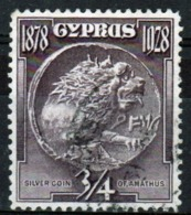 Cyprus Single 1928 Three Quarter Piastre Stamp From 50th Anniversary Of British Rule Set. - Cyprus (Republic)