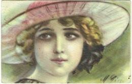 Illustrateur : Femme Et Grand Chapeau. - Illustratori & Fotografie