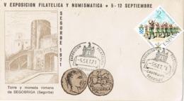 34380. Carta SEGORBE (Castellon)  1971. Torre Y Moneda Romana De SEGOBRIGA - 1931-Hoy: 2ª República - ... Juan Carlos I